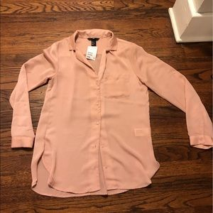 New with tags H&M Button up Shirt/ Tunic Peach